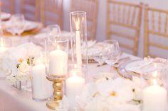Simplistic Elegant Wedding Centerpieces // Blush & White Luxe Miami Wedding via TheELD.com