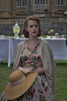 Claire Foy is lovely in this summer garden dress, in the film, Breathe Retro Outfits, Stylish Outfits, The Crown 2016, The Crown Series, Crown Netflix, Vintage Beauty, Vintage Fashion, Jessica Brown Findlay, Garden Dress