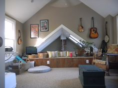 Loft remodeled with vaulted ceiling
