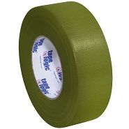 2 Inch Wide Roll of Olive Colored Duct Tape.