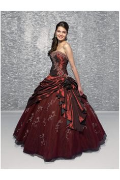 Ball Gown Strapless Floor Length Quinceanera Dresses Embroidery With Beading Ruffles