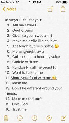 Just a list I made. -Raina LeeAnne
