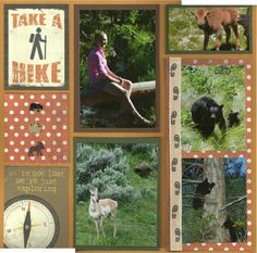 hiking scrapbook idea