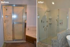 Best Before And After Bathroom Remodel Images On Pinterest - Bathroom remodel before and after pics