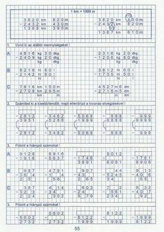 Kiszámoló 4. osztály Free Stuff, Bullet Journal, Math, High School Graduation, Math Resources, Mathematics