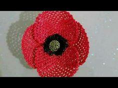 Parmağın Etrafında yapılan Gelincik çiçeği iğne oyası modeli - YouTube