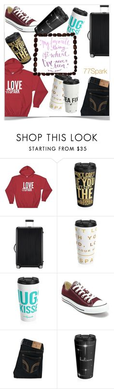 """""""cute travel mugs"""" by klyy ❤ liked on Polyvore featuring Rimowa, Converse and Hollister Co."""