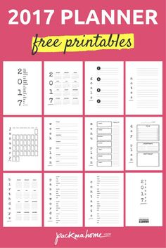 2017 Free Planner: Download Pdf Printables