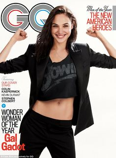 Wonder Woman Of The Year: Gadot shows off her slim waist as she poses in a crop top for GQ...