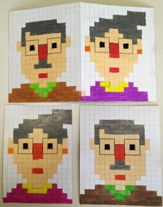 Coding Unplugged e Pixel Art: le schede e il biglietto di auguri per la festa dei nonni - Maestro Alberto Pixel Art, Art For Kids, Lego, Coding, Fictional Characters, Cross Stitch, Tecnologia, Creativity, Artists
