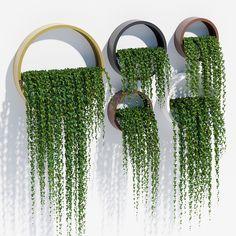 wall planters ivy 3d model max obj mtl fbx mat 1