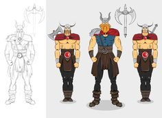 Viking character final concept gfx