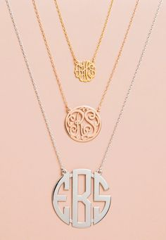 wear your initials around your neck... Just in case I forget who I am or can't find a symbol more meaningful than my name... Joking aside its just pretty.
