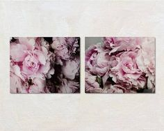 Peony Print Set Floral Wall Art Set Grey and by PureNaturePhotos