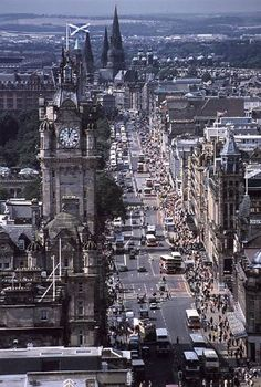 Princes Street, Edinburgh, Scotland.  Home of the oldest department store in Scotland.  Built in 1837.