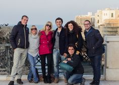 LA Marchesi, CEO and founder of Bella D'Oliva USA, with some friends in Bari, Italy