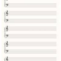 The Blank Sheet Music Heather Uses To Write Her Songs On  Sugar