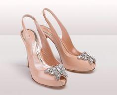 Aruna Seth Nude patent peep-toe shoes with Farfalla butterfly, £645.00