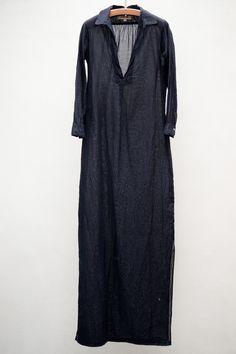 heist - nili lotan maxi st tropez dress - navy cotton voile