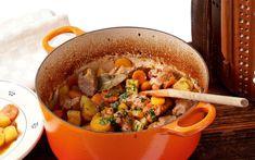 Pork Stew, Ratatouille, Pot Roast, Sausage, Food And Drink, Meat, Ethnic Recipes, Sissi, Larp