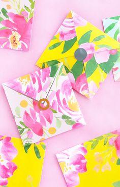 DIY Floral Patterned