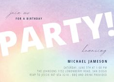 Rainbow Party - Birthday Invitation #invitations #printable #diy #template #birthday #party