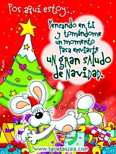 Por aquí estoy... Pensando en ti y tomándome un momento para enviarte un gran saludo de Navidad. Merry Christmas Message, Merry Christmas Images, Christmas Messages, Christmas Cards, Xmas, Picture Quotes, Snoopy, Fictional Characters, Inspiration