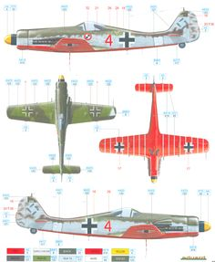 Focke Wulf Fw 190D-13 Color Profile and Paint Guide