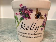 """Best little present today from my friend Cathy; a candle that is perfectly me!  Kelly - """"her emotions are well concealed. She will always stand up for others"""".  Me!  To a T. #Kelly #candle #toat"""