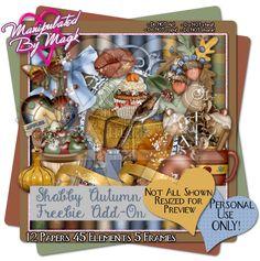 Manipulated By Magik: Shabby Autumn Freebie Add-on Kit