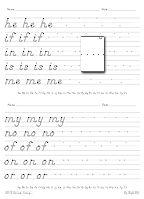 best printing, handwriting site ever. Teach D'Nealian asap so kids ...
