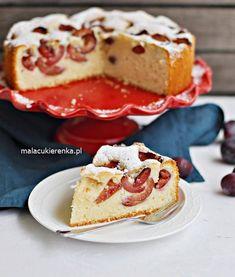 Szybkie PUSZYSTE Ciasto ze ŚLIWKAMI - PRZEPIS - Mała Cukierenka Something Sweet, Baking Recipes, Nom Nom, French Toast, Cheesecake, Breakfast, Food, Polish, Cakes