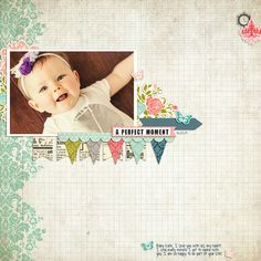 """Digital layout created by Rachael Sheedy for #CartaBellaPaper with the """"Moments & Memories"""" digital collection kits"""