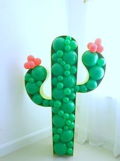 28 Best Cactus Party Ideas images in 2020 Cactus Balloon, Balloon Garland, Balloon Decorations, Birthday Decorations, Balloons, Balloon Holders, Balloon Balloon, Mexican Birthday Parties, Mexican Party
