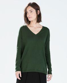 Image 1 of OVERSIZED V-NECK SWEATER from Zara $17.90