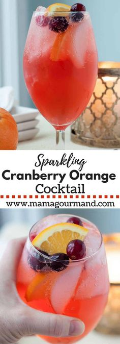 Sparkling Cranberry Orange Vodka Cocktail is a holiday cocktail drink with cranberry vodka, hint of orange, cranberry orange simple syrup, and a little fizz Cocktails Vodka, Alcoholic Drinks Vodka, Vodka Cranberry Cocktail, Winter Cocktails, Holiday Drinks, Orange Cocktail, Christmas Vodka Cocktails, Drinks Alcohol, Christmas Drinks