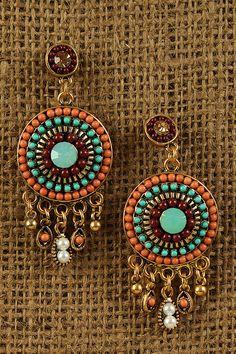 Bohemian Glow Earrings - @Gabriela Vande-Gehucht