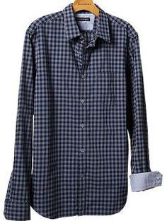 soft-wash gingham shirt