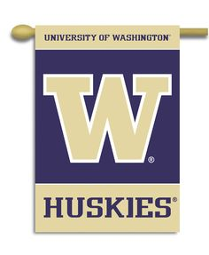 "Washington Huskies 2-Sided 28"" X 40"" Banner W/ Pole Sleeve"