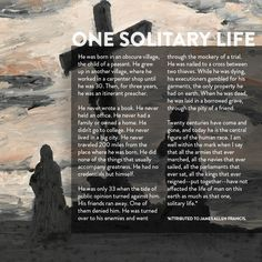 One Solitary Life | Enough Is Enough