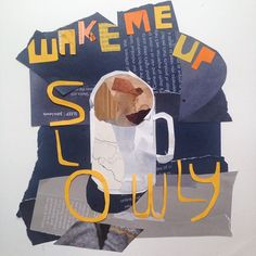 Wake me up slowly. #morningcollage #collage #coffee