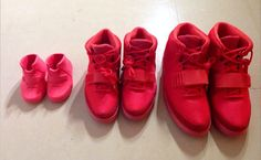 "Kim Kardashian Shares Look at Family Set of ""Red October"" Yeezy 2s http://nicek.is/1fa6ODg"