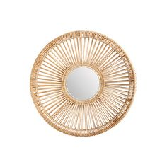 Lazy Susan Rattan Spoke Mirror | Wayfair $400 (in small and large)