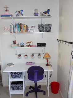 cool ikea workspace design ideas small white wall decal ikea workspace decorating with purple wheeled chair and hanging pencil caddy