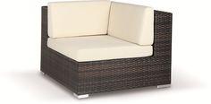 poltrona da giardino Byblos angolo per divano modulare  in rattan sintetico e struttura in alluminio cuscini inclusi