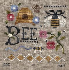 Garden Grumbles and Cross Stitch Fumbles: Cross Stitch Cross Stitch Cards, Cross Stitch Animals, Cross Stitching, Cross Stitch Embroidery, Embroidery Patterns, Cross Stitch Patterns, Bee Crafts, Bee Design, Knitting Charts