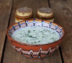 Таратор, Cold Cucumber Soup -  Bulgarian cuisine Bulgarian Recipes, Bulgarian Food, Adoption Shower, Cucumber, Dishes, Tableware, Soups, Fit, Kitchens
