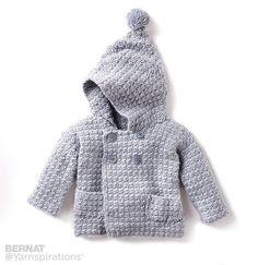 Ravelry: Cozy Hoodie pattern by Bernat Design Studio--baby sweater