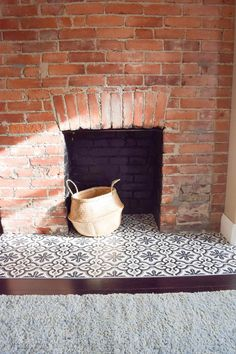 Tile near fireplace. Instructions.