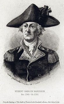 Lieutenant-Colonel Robert Hanson Harrison of Alexandria, Virginia, had been Washington's lawyer before the war and joined his staff in 1775. In 1776, he became Washington's military secretary, a position he held until 1781. After the war, he served as a judge in Maryland. Engraving by Albert Rosenthal after John Trumbull British America, Army Ranks, Continental Army, History Books, Family History, Blooms Taxonomy, American Revolutionary War, Prisoners Of War, Chief Of Staff